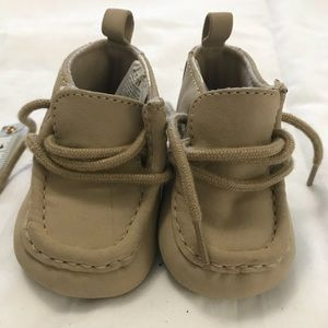Gymboree baby booties Tan Size 01